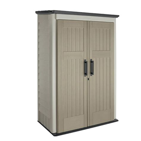 rubbermaid 4 ft x 2 ft 5 in large vertical storage shed browns tans shop your way