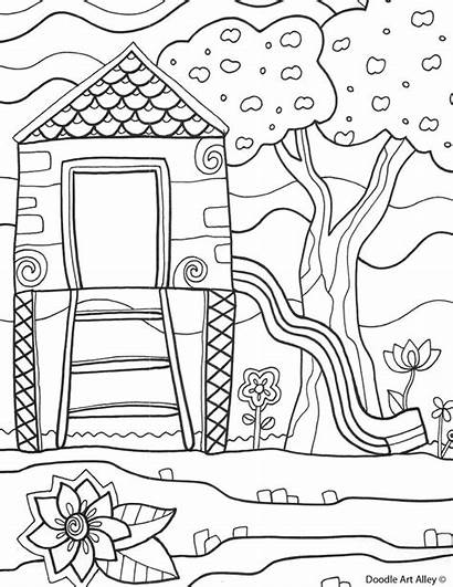 Coloring Sheets Summertime Printable Playground Printables Colouring