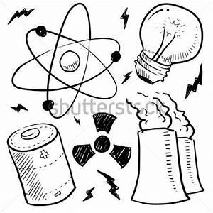 doodle estilo la energia nuclear o energia boceto en With power relay que es