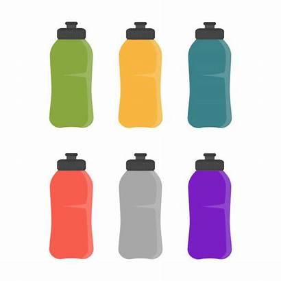 Bottle Water Reusable Vector Clip Illustrations Sports