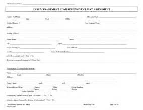 Social Work Case Management Assessment Forms