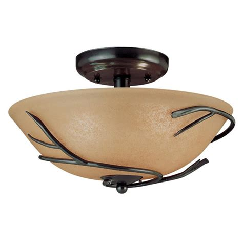 kenroy home 174 twigs small semi flush ceiling light