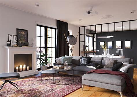 minimalist studio apartment design applied   gray