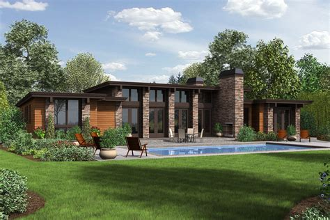contemporary prairie style house plans small home one modern style house plan 3 beds 2 5 baths 2557 sq ft plan