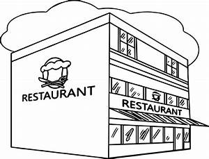 Restaurant Building Great Restaurant Coloring Page ...