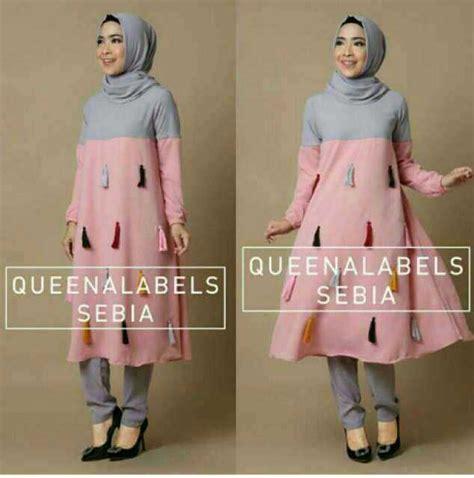baju setelan hijab tunik celana modis murah model terbaru ryn fashion