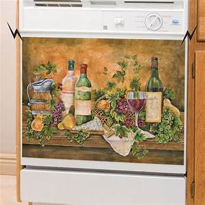 Decorative MAGNETIC DISHWASHER COVERS Vineyard Decor For