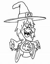 Crystal Coloring Pages Ball Witch Printable Template Getcolorings sketch template