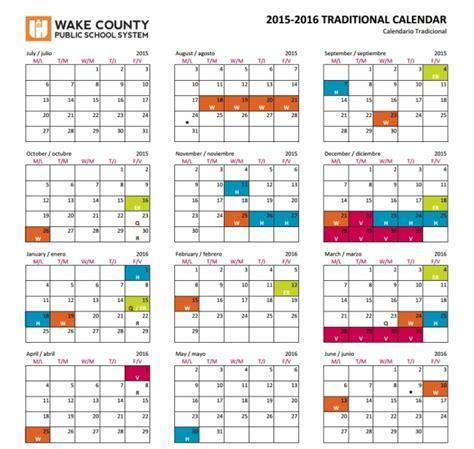 wake county public schools traditional calendar printable calendar