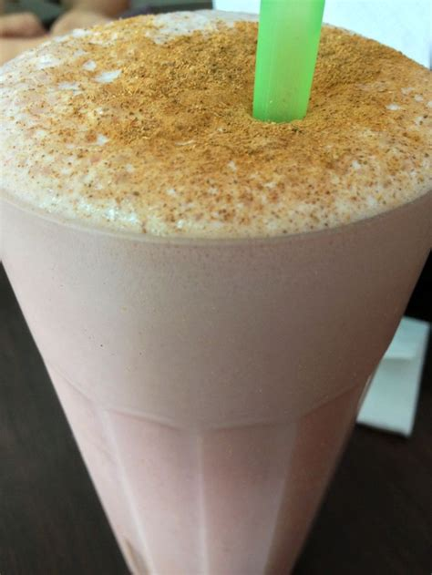 Chocomilk shake usually blended ice, milk, cocoa, egg and