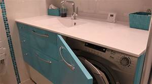 masquer un lave linge dans un meuble de salle de bain With meuble salle de bain machine a laver