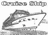 Cruise Ship Coloring Pages Luxurious Template Netart Sketch sketch template