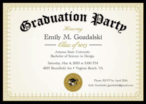 graduation invitation : Graduation invitation templ