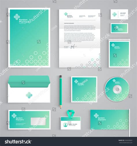 corporate identity medical branding template abstract