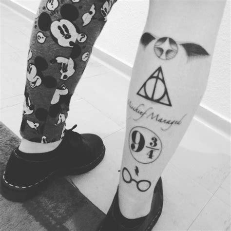 tatouage harry potter mollet  tatouages pour celles