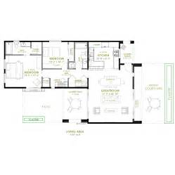modern 2 bedroom house plan - 2 Bedroom Home Plans