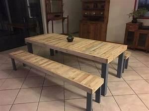 Table Et Banc En Bois : creation palette id es de cr ation et fabrication en ~ Melissatoandfro.com Idées de Décoration