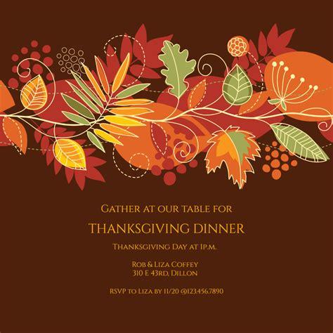 festive fall  thanksgiving invitation template
