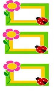 preschool name tag crafts and worksheets for preschool 981 | ladybugname tag 3 178x300