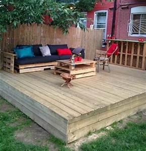 Salon De Jardin En Palette Tuto : 52 id es pour fabriquer votre meuble de jardin en palette ~ Dode.kayakingforconservation.com Idées de Décoration