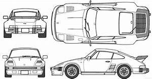 Porsche, 911, Flatnose, Coupe, Blueprints, Free