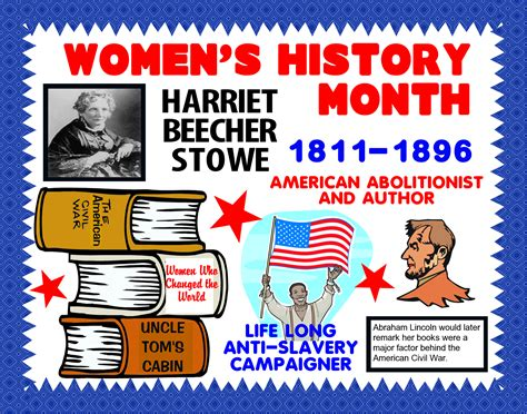 poster  harriet beecher stowe womens