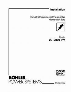 Generator Sets 20--2800 Kw Manuals