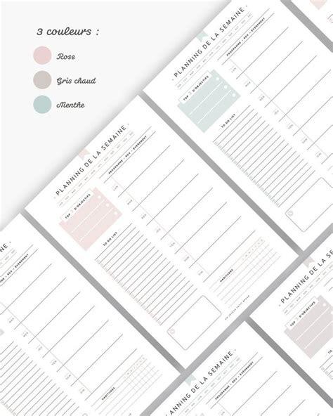 planner semainier  date  imprimer  editable pour recharge planner  ou  en francais