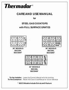 Thermador Sgc456 Care And Use Manual Pdf Download