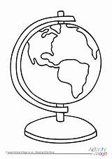 Colouring Globe Template Coloring sketch template