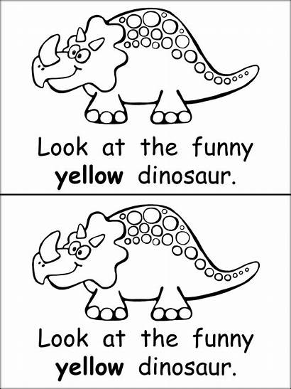 Emergent Reader Dinosaurs Kindergarten Funny Words Reading