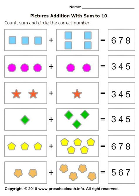 preschool worksheets  math google search  images