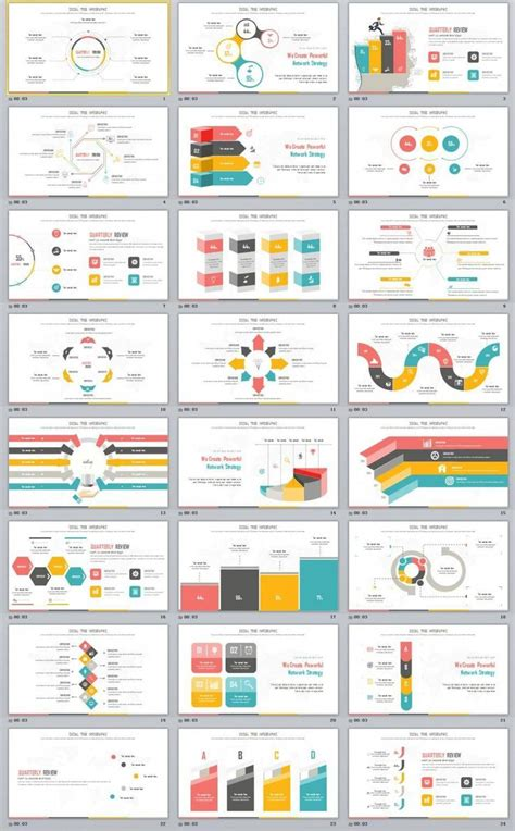 creative infographics report powerpoint template