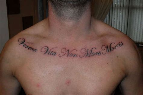 awe inspiring chest quotes tattoos