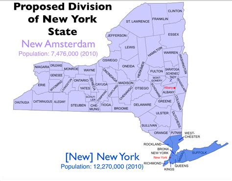 The Quixotic Campaign To Split New York State Geocurrents