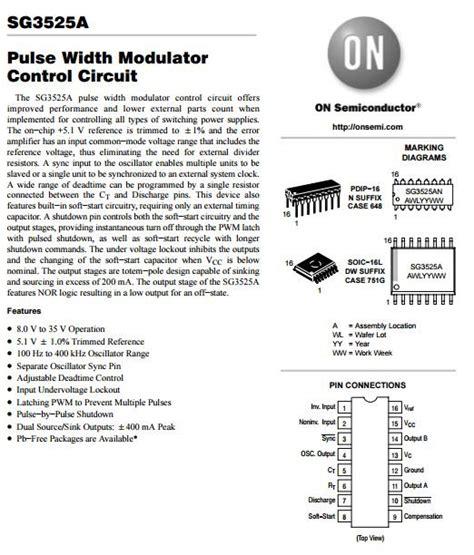 sg3525an sg3525 pulse width modulator circuit entegre st 199 akir elektronik