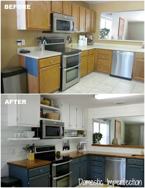 cheap kitchen makeover ideas before and after pneumatic addict 14 diy kitchen remodels to inspire 9803