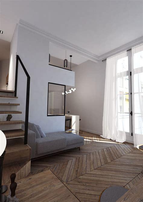 studio  paris vii belle hauteur pour petit duplex