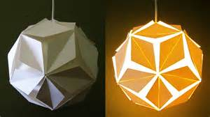 DIY pendant lamp/lantern (5 petals) - home and room decor