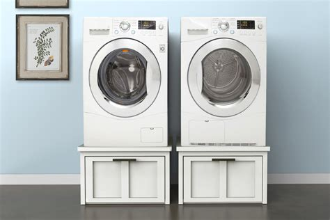 washer dryer pedestal washer dryer pedestals with storage buildsomething