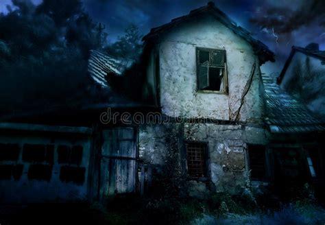 scary house stock illustration illustration  dark