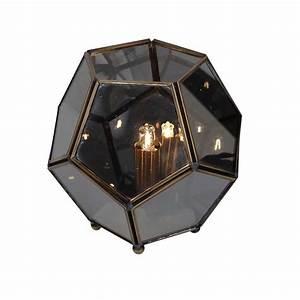 Chandelier lighting dunelm : Terrarium smoked glass table lamp dunelm dodecahedron