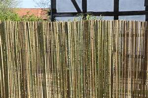 Sichtschutz Garten 2 Meter Hoch : bambusmatte 2m x 1 5m bambus sichtschutzmatte zaun sichtschutz matte geschnitten ~ Bigdaddyawards.com Haus und Dekorationen