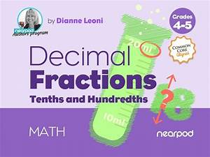 Decimal Fractions  Tenths And Hundredths