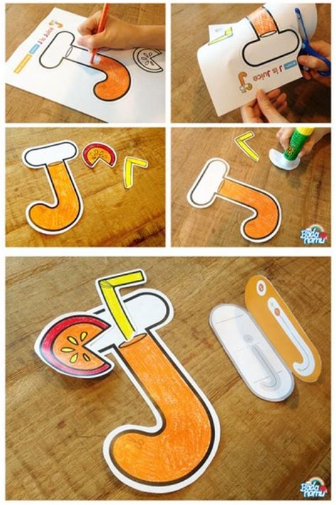 juice craft  fun letter learning activities