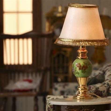 Dollhouse Miniature Electric Lamp   Bedroom Miniatures