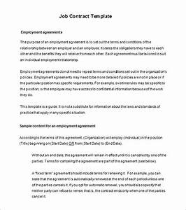 17 job contract templates free word pdf documents With terms of employment contract template