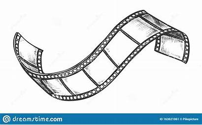 Filmstrip Vector Projector Cinema Roll Retro Blank