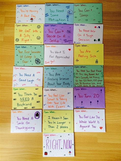 open letter to my best friend open when letters to your best friend diy