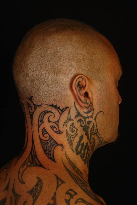 shane tattoos tiki taane neck tattoo